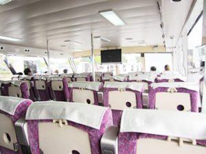 琵琶湖に浮かぶパワースポット 竹生島:船内
