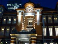 都内近郊の癒しのイルミネーションスポット:東京駅舎のイルミネーション3